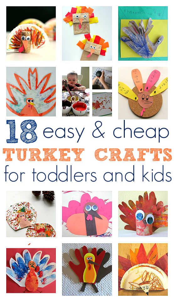 Easy turkey crafts for toddlers and kids no time for for Thanksgiving crafts for infants
