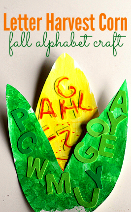 Letter Harvest Corn – Alphabet Craft for Kids