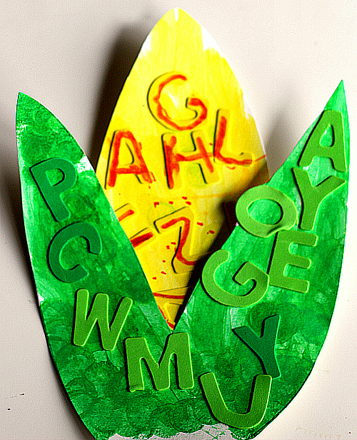 fall alphabet craft letter corn on the cob