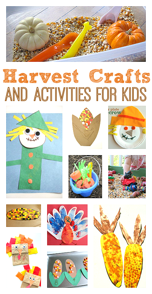 harvest crafts activities no time for flash cards