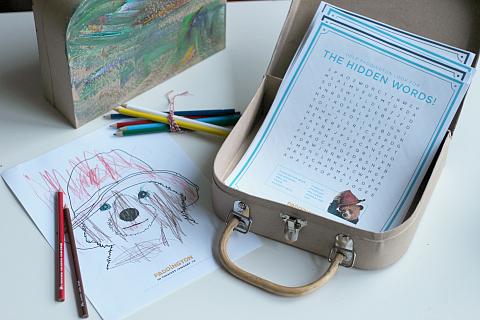 paddington bear busy bag briefcase