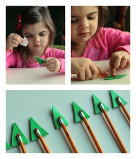 pencil toppers christmas gift kid made