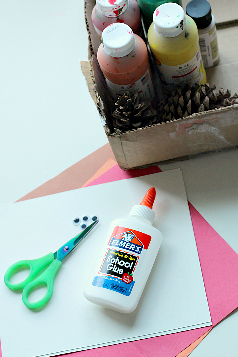 pinecone painting supplies