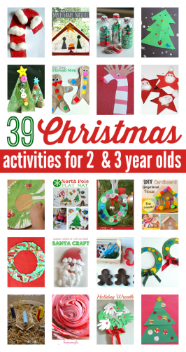 39 Christmas Activities For 2 and 3 Year Olds.