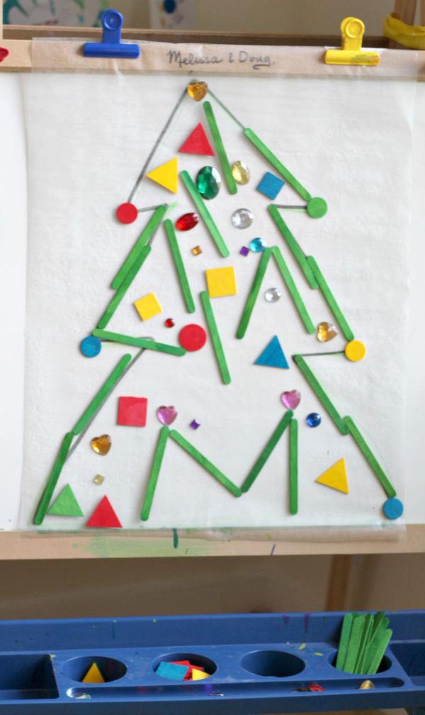Christmas tree sticky easels