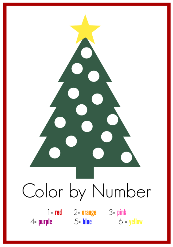free color by numbers worksheet