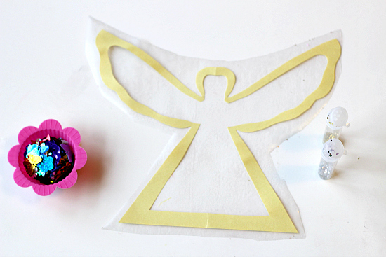 Christmas Crafts Paper Angels : Easy angel craft for preschool no time flash cards