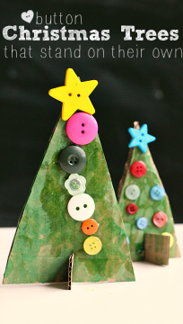 'christmas tree craft for kids' from the web at 'https://www.notimeforflashcards.com/wp-content/uploads/2014/12/button-christmas-tree-craft-for-preschool-2-204x360.png'