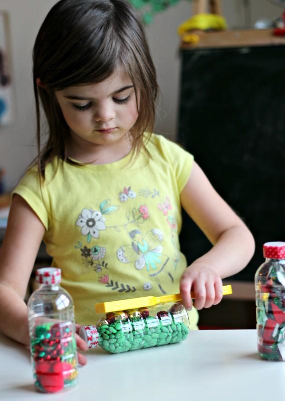Magnetic Sensory Bottles Christmas Activities For