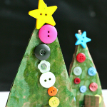 Button Christmas Tree Crafts