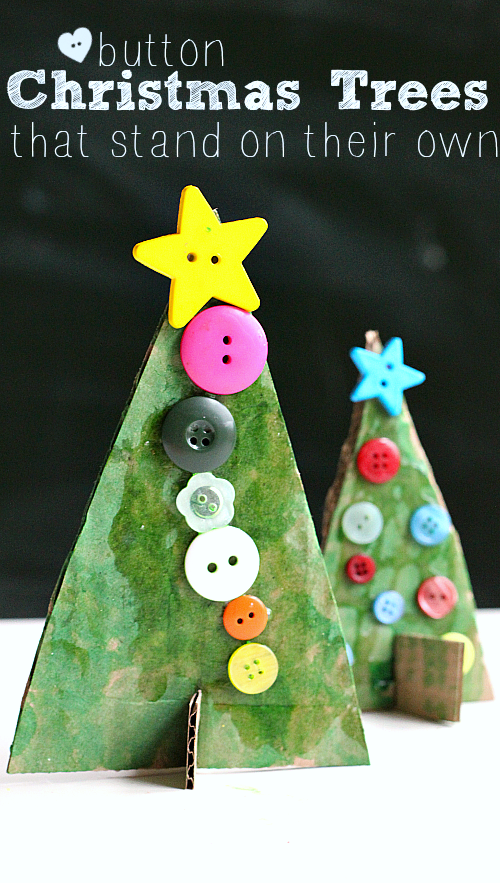 Button christmas tree crafts no time for flash cards for Christmas crafts for pre schoolers