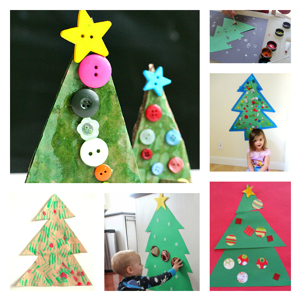 Arts And Craft Christmas Ideas Part - 32: Christmas Tree Crafts And Activities For Toddlers