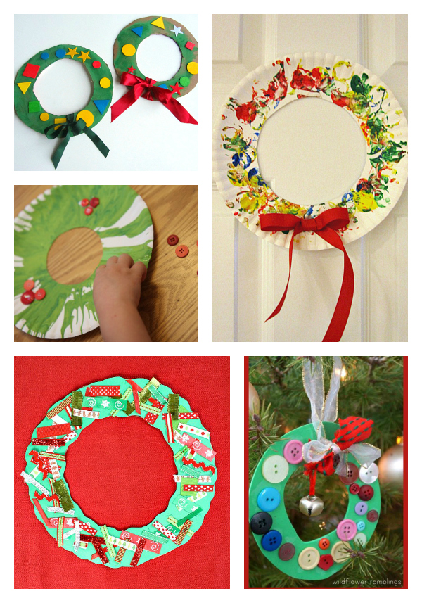 christmas wreath crafts for 2 year olds and 3 year olds