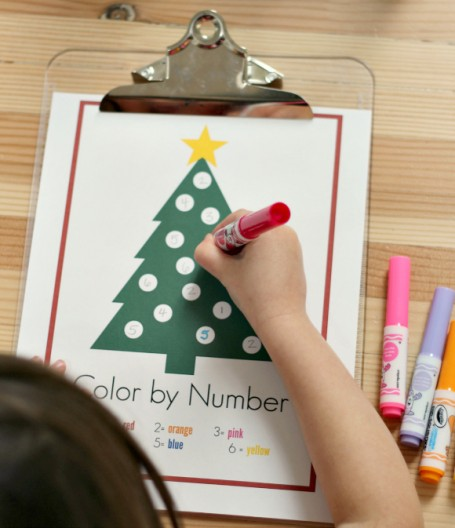 color by numbers for preschool