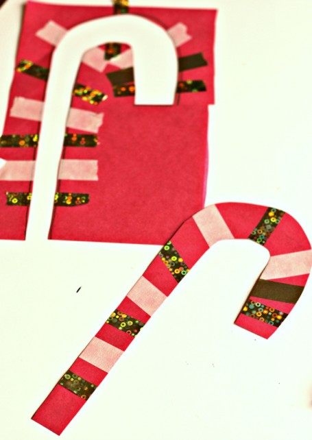 cut out candy cane craft