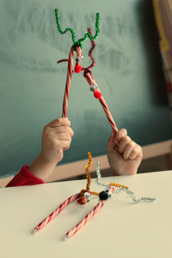 dye free candy cane rudolph crafts