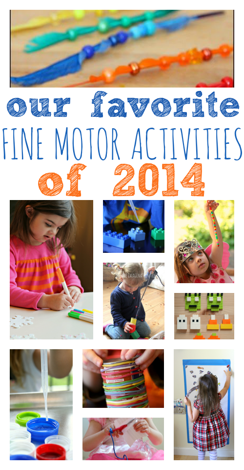 Our favorite fine motor activities of 2014 no time for for Motor activities for preschoolers