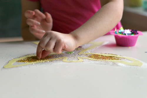 fine motor angel craft for kids