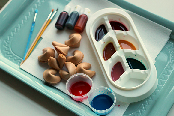 fortune cookie painting new years eve activity for kids