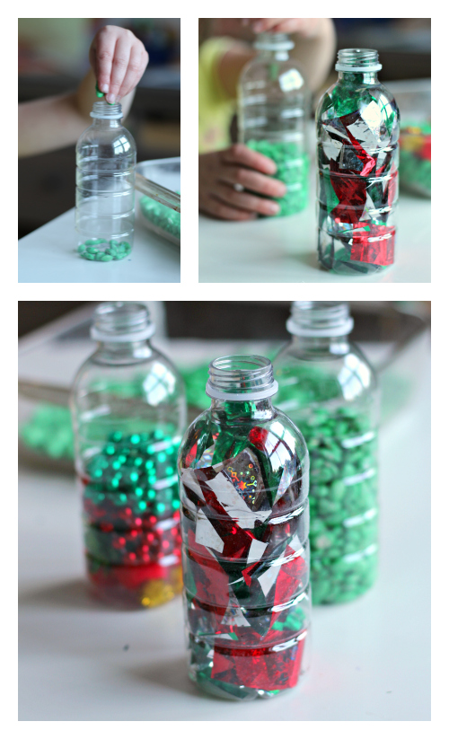 holiday sensory bottles for preschool
