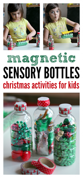 Magnetic Sensory Bottles – Christmas Activities For Preschool