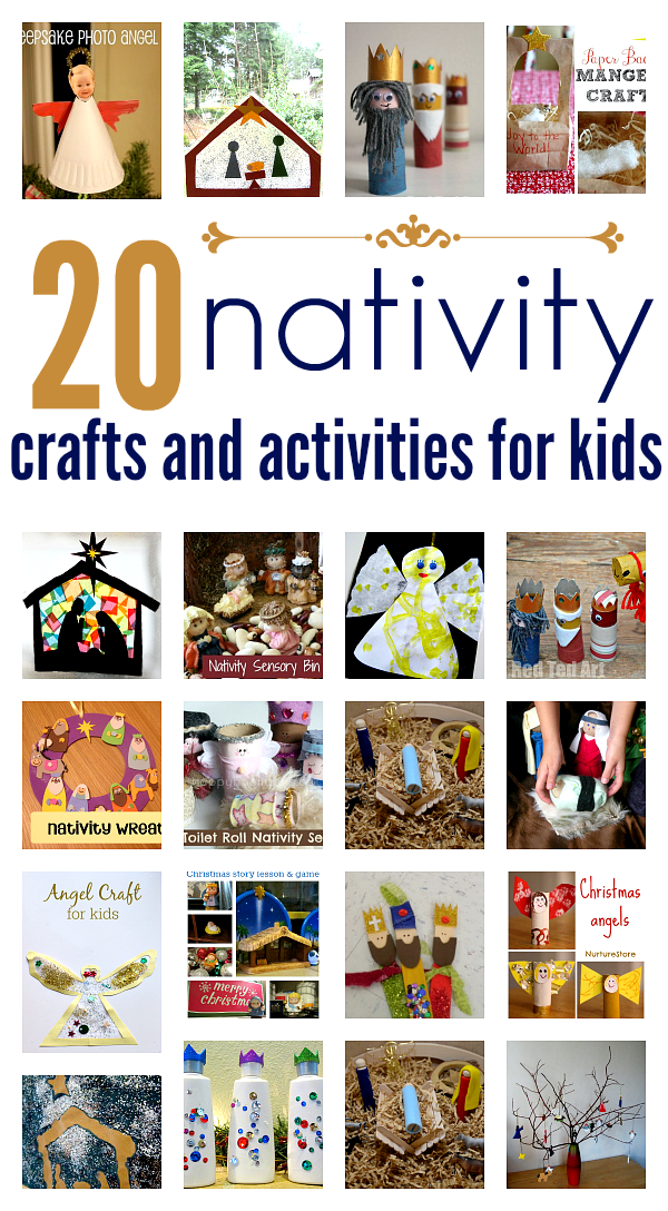 Nativity crafts amp activities for kids no time for flash cards