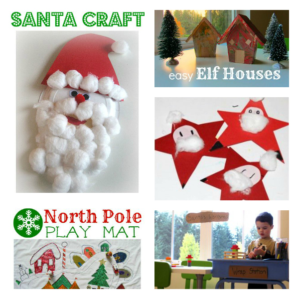 Santa crafts and activities for preschool