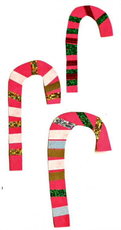 Easy candy cane craft no time for flash cards for Easy candy cane crafts
