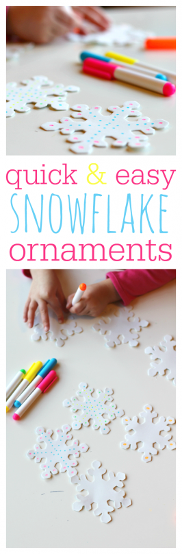 Easy Snowflake Christmas Ornaments