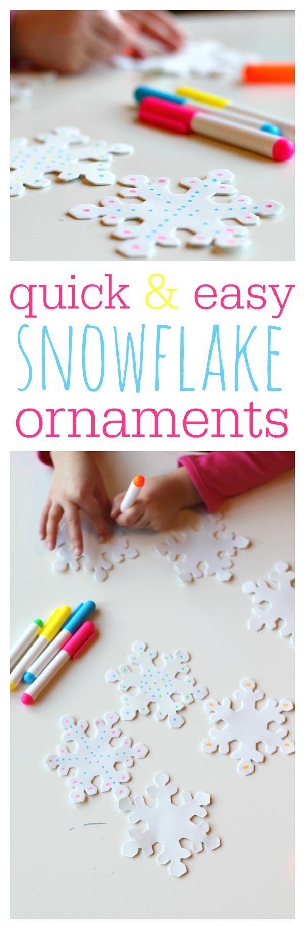 snowflake craft for kids