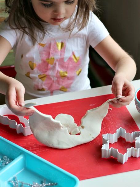 snowman play dough for preschool winter play dough