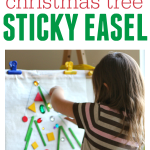 Trim A Tree Sticky Easel – Christmas Activity For Preschool