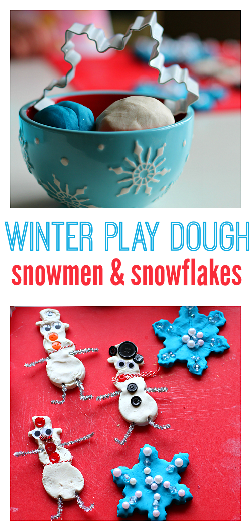 winter play dough for preschool