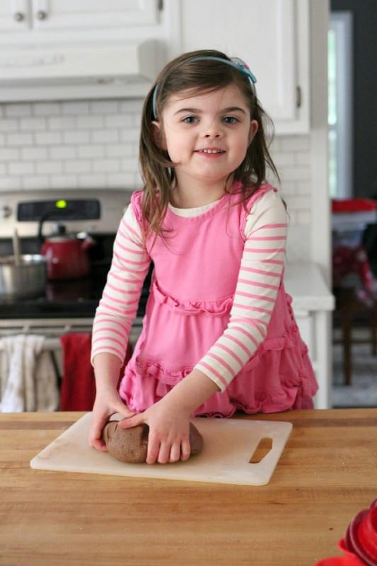chocolate gluten free playdough