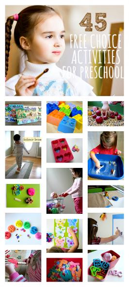 free choice activities for preschool