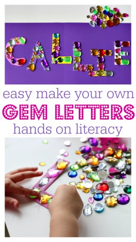 Easy Gem Letters – Alphabet Activities