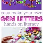 Easy Gem Letters – Alphabet Activities