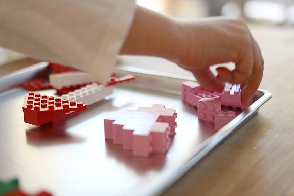 lego challenge for preschool heart