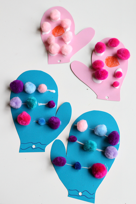 mitten craft for preschool