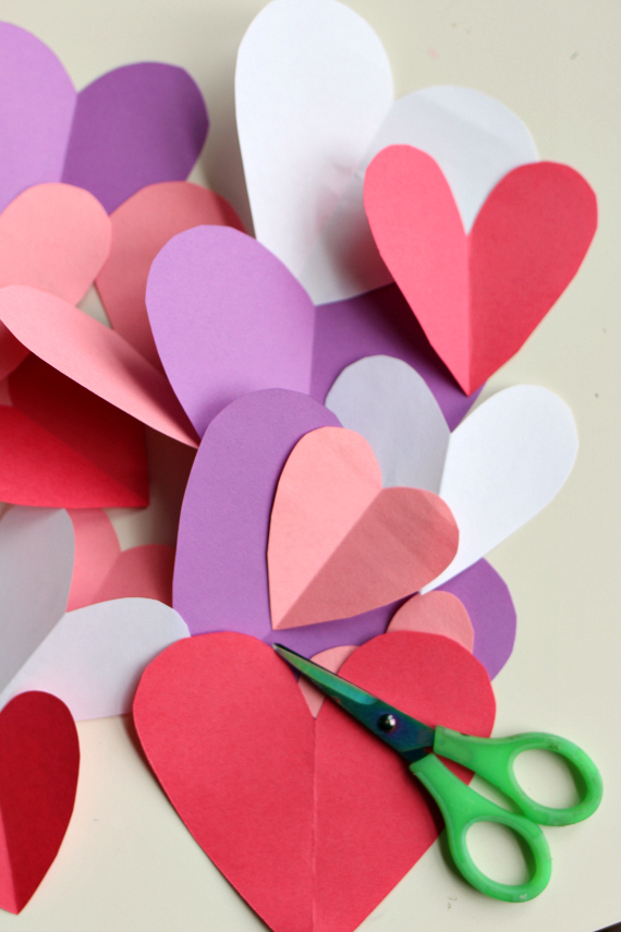 Easy valentine 39 s day craft no time for flash cards for Easy heart crafts
