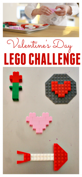 Valentine's Day Lego Challenge For Girls and Boys