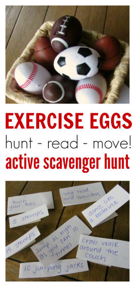 Exercise Eggs – Find & Move Scavenger Hunt