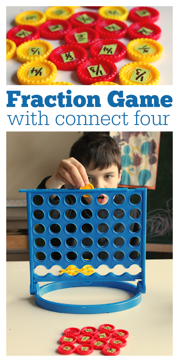 Fraction Game { with connect 4 } - Learning After School - No Time ...