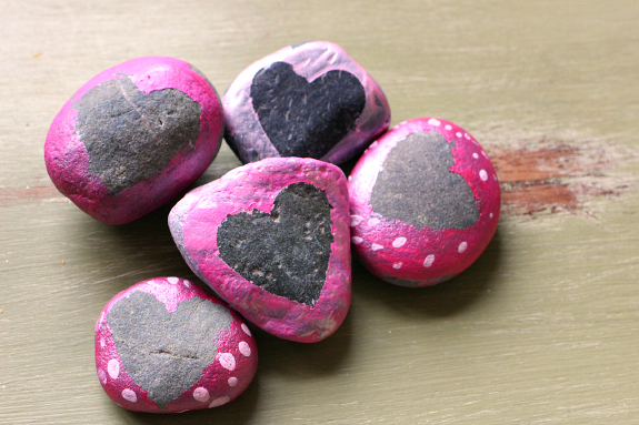 heart rocks for valentine's day for kids
