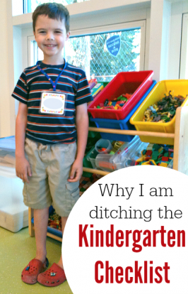 Kindergarten Checklist – Why I'm ditching it.