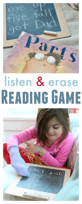 Listen & Erase  –  Listening and Reading Game For Kids