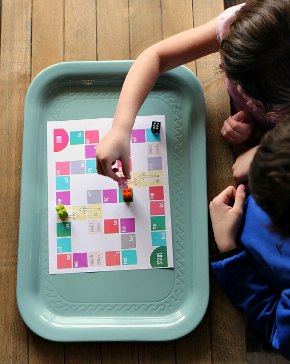 rhyming board game FREE printable