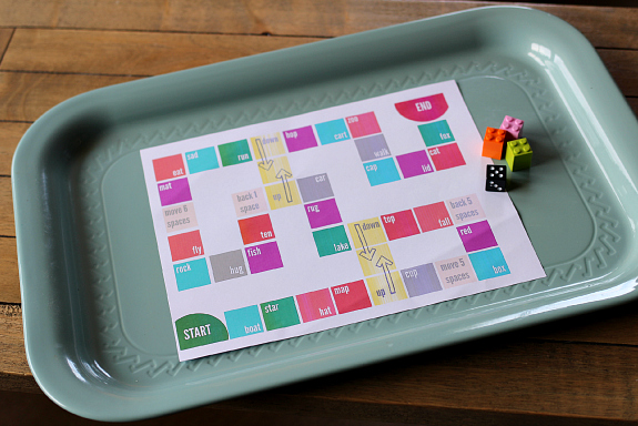 rhyming board game for kids free printable