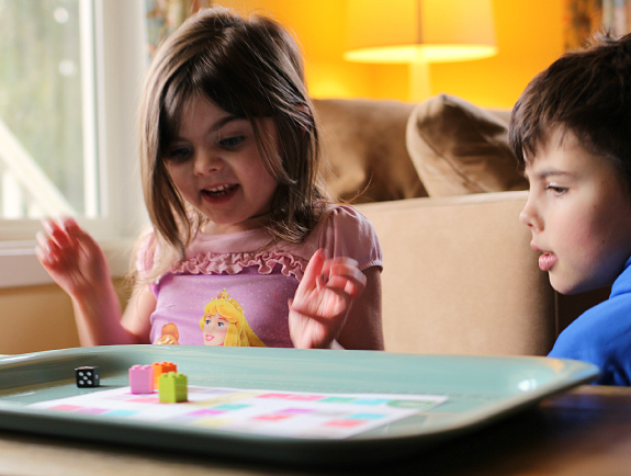 rhyming board game for prek