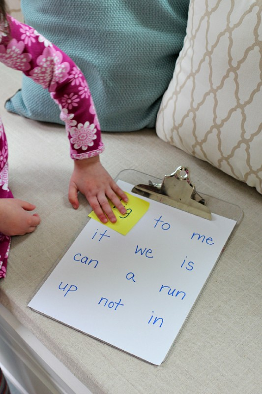 sight word game for kids at home